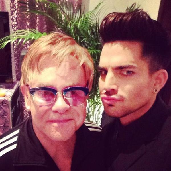 #eltonjohn #duckface ... His Vegas show is soooo good.