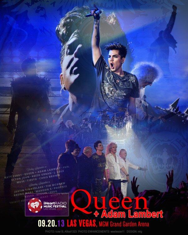 "@mlg621: Poster 4 #iHeartRadio @adamlambert & @QueenWillRock. Unofficial. Made for ""ADAM FANS BY ADAM FANS http://twitpic.com/decvof """