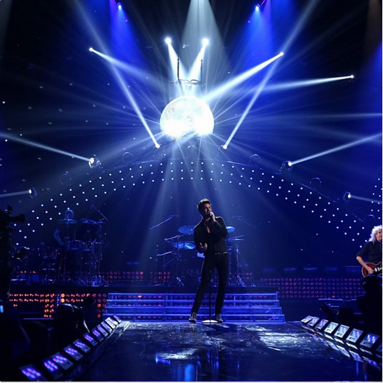 @adamlambert: #queen #iheartradio #discoballdrama http://instagram.com/p/eifF7bONPL/