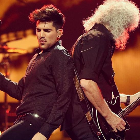 @adamlambert: #queen #iheartradio #feelinitdeep #saintlaurent http://instagram.com/p/eie7dQuNO3/