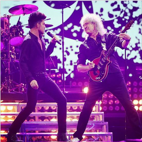 @adamlambert: #queen #iheartradio #brianmayisarockgod http://instagram.com/p/eifSx_uNPp/