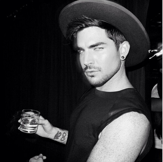 lambertlust: Adam Lambert at Giorgios - New Photo via sweizzGlambert