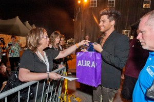 Alice Miller meets Adam Lambert after the All For The East End concert at Martha Clara Vinyards in Riverhead, New York on Monday, August 19th, 2013