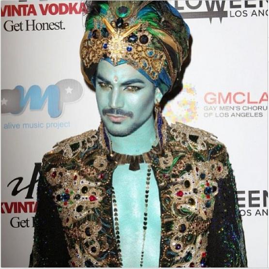 @adamlambert: Halloweenie Genie http://instagram.com/p/f8bs9NuNLh/