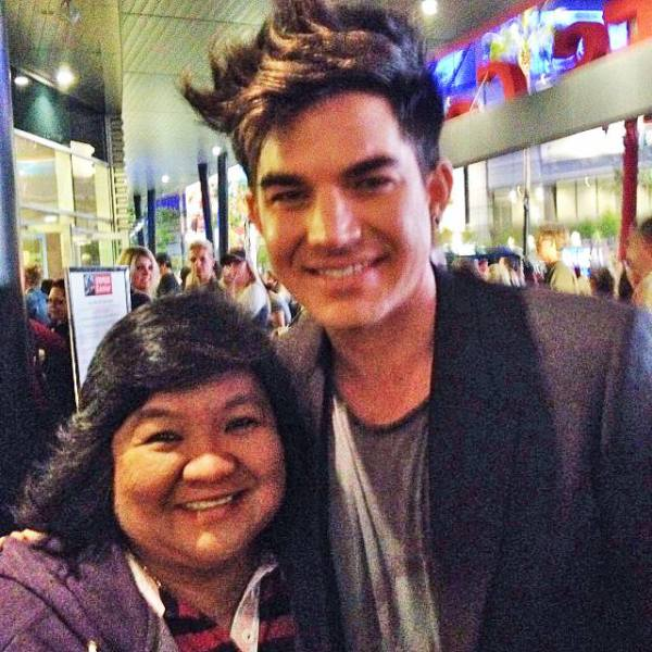 @blueboy811: Conney meets Adam Lambert staplescenter #p!nk concert. @ STAPLES Center http://instagram.com/p/fZIyR9rjgF/