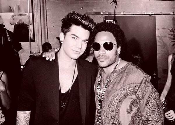 Adam Lambert and Lenny Kravitz