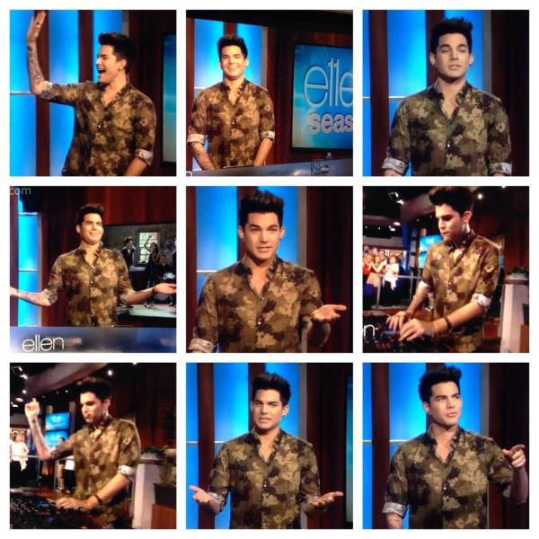 ‏@LAMBERTLUST: Screen cap pic collage of Adam Lambert on Ellen! http://instagram.com/p/gWl6imHQqj/  pic.twitter.com/1WEdhYvbQn