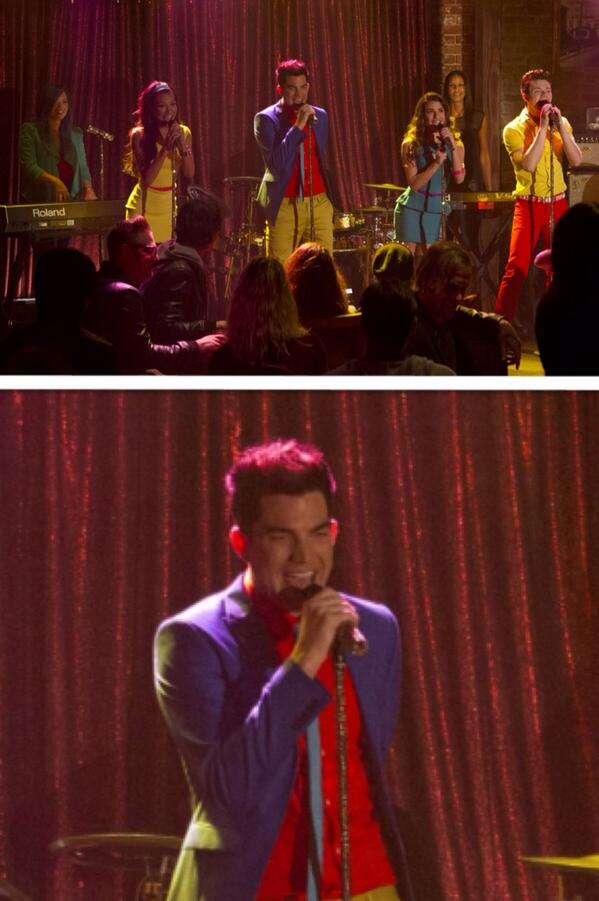 @LAMBERTLUST: New Adam Lambert pic from upcoming Glee episode http://instagram.com/p/goNZF8nQvV/  pic.twitter.com/CD1ppuCwYs