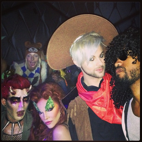 iamcarmit: All my kinds... @adamlambert @tommyjoescissorhands @brianlondon #halloween