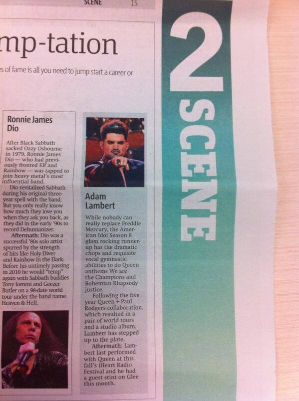@feetchick: Adam in today's Metro paper! Get yo copy! :))) pic.twitter.com/kHMKUpZjrk