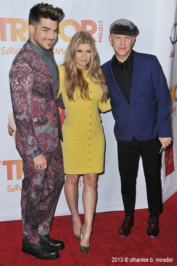 @Sthanlee: Adam Lambert, Fergie & Ryan Murphy at #TrevorLIVE in Hollywood. http://twitpic.com/do2zkt