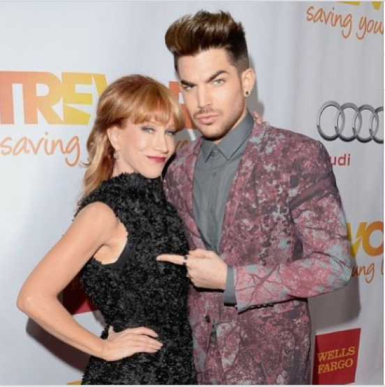 @adamlambert 19h kathygriffin this is the right one. http://instagram.com/p/hsWKJduNFH/