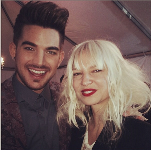 @adamlambert: sia looked and sounded divine last night! http://instagram.com/p/huEYb-uNMC/