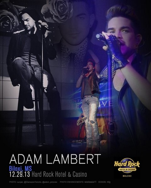 "@mlg621 3h Poster for Biloxi, MS @adamlambert concert. Unofficial. Made for ""ADAM FANS BY ADAM FANS"" http://twitpic.com/dqg7u2"