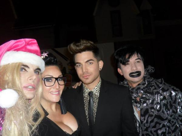Candice Cash: With Adam Lambert and Bobby Trendy.