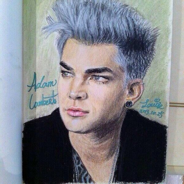 Yasmeen Aoudi: @adamlambert HERE'S THE COMPLETED DRAWING OF YOU :) ( If you like to change your avi to ) ^_* <3. pic.twitter.com/pYUmsI8yiF