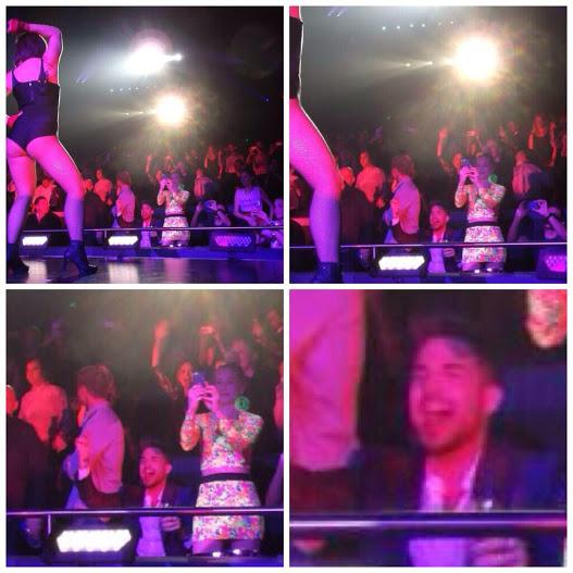Adam enjoying himself at the concert, via @got2btrue2u!!!