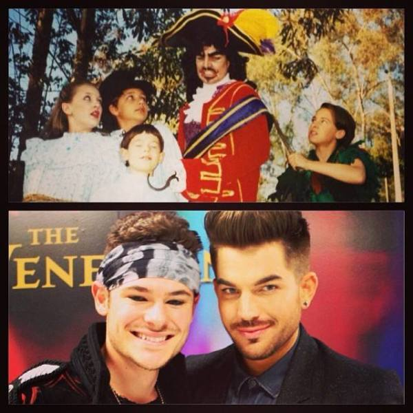 jacobdharen: #tbt to 2000 when I was Michael in Peter Pan with @adamlambert as Captain Hook. Got to see him today at #rockofagesvegas for the first time in 13 years! Super cool.