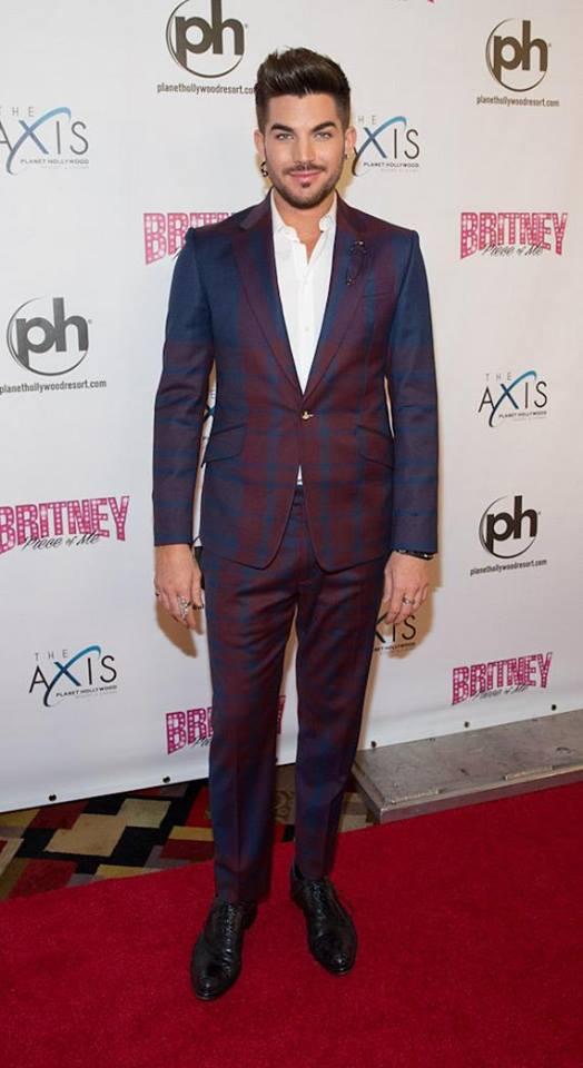 @Robin_Leach: Adam Lambert on Britney red carpet pic.twitter.com/zgYSsFLGba