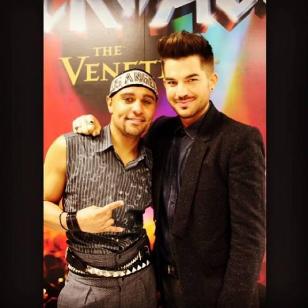 @LoveMrSpencer: The #bestie came to support #rockofagesvegas thanks my #love you're the best @adamlambert so much fun last night. #adamlambert #terrancespencer #vegas