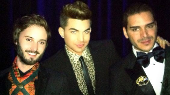 Brad Bell, Executive Producer and Star of Husbands, Adam Lambert and jewelry designer Markus Molinari at the WOWies. From Concierge Questionnaire