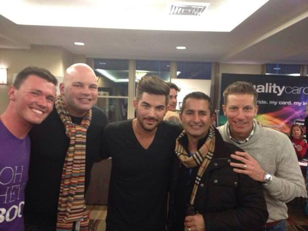 Miles A. Harford: Us with Adam Lambert.