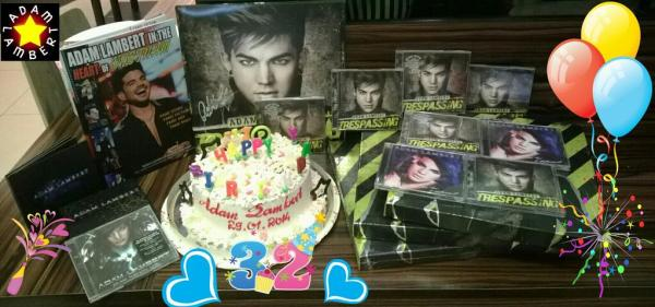 @adamlambertfcvn: Some of us gathered 2 celebrate @adamlambert 's b-day!Thanks 4 coming 2 our world!luvya :xo #HappyBirthdayAdamLambert pic.twitter.com/AKnKf8cQ6Z