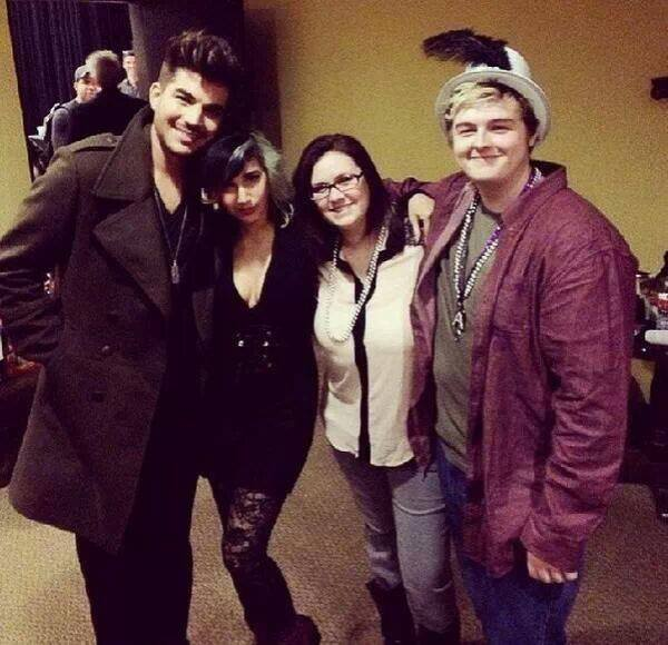 Via @number8girl Adam wearing the pendant! — with Paula Long.
