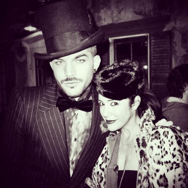 @adamlambert: @scarlettcherry and I giving a bit of retro glam