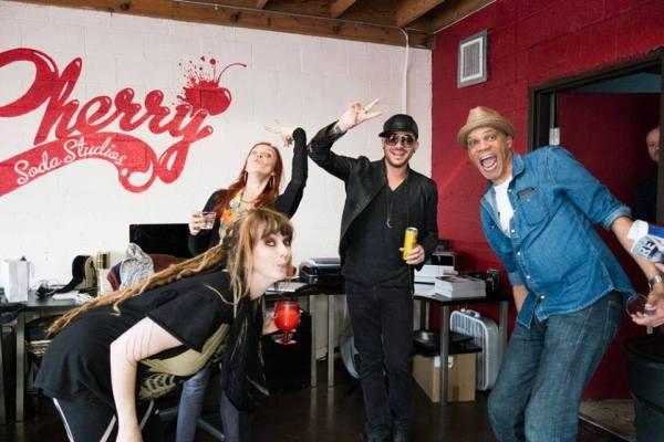 @AdamLambert at Cherry Soda Studios for @RiffCherry's b-day party