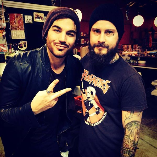 Sivletto: Adam Lambert is in town working with Max Martin and others. So he swings by Sivletto to let Justin cut his hair. Two Cali dudes in a Swedish basement. #sivlettobarbers #sivletto #glamberts #glee #queen