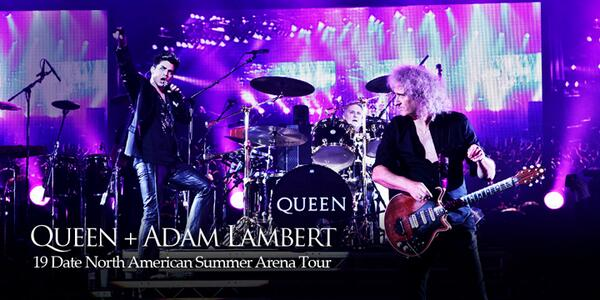 And they are back! Picture by Christie Goodwin. #AdamLambert pic.twitter.com/5Ps4hfsHHE