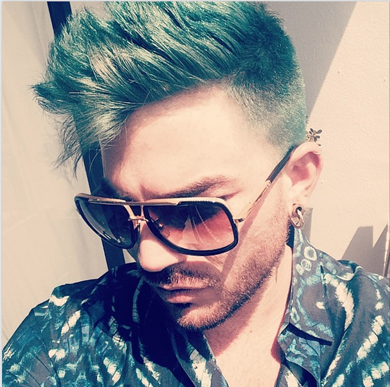 adamlambert: Green Hair Don't Care