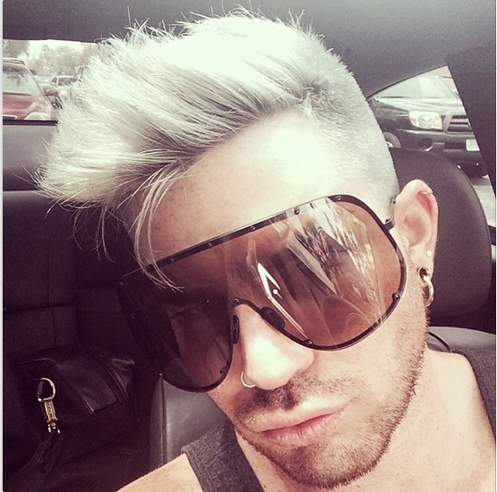 @adamlambert: White Hair Don't Care http://instagram.com/p/m53FZZuNOW/