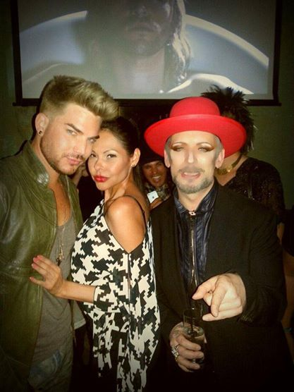 @wiseaudra: Do you really wanna hurt me...#AdamLambert #BoyGeorge #PourVous http://instagram.com/p/ncnQiTglE4/