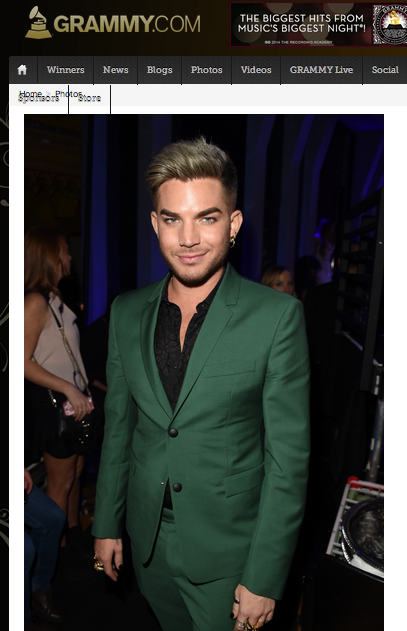 @_AOStarlighter_  4h Adam Lambert | http://GRAMMY.com  http://www.grammy.com/photos/adam-lambert-23 … #1 most viewed, shared 'n commented on photo! :D soooo handsome.....