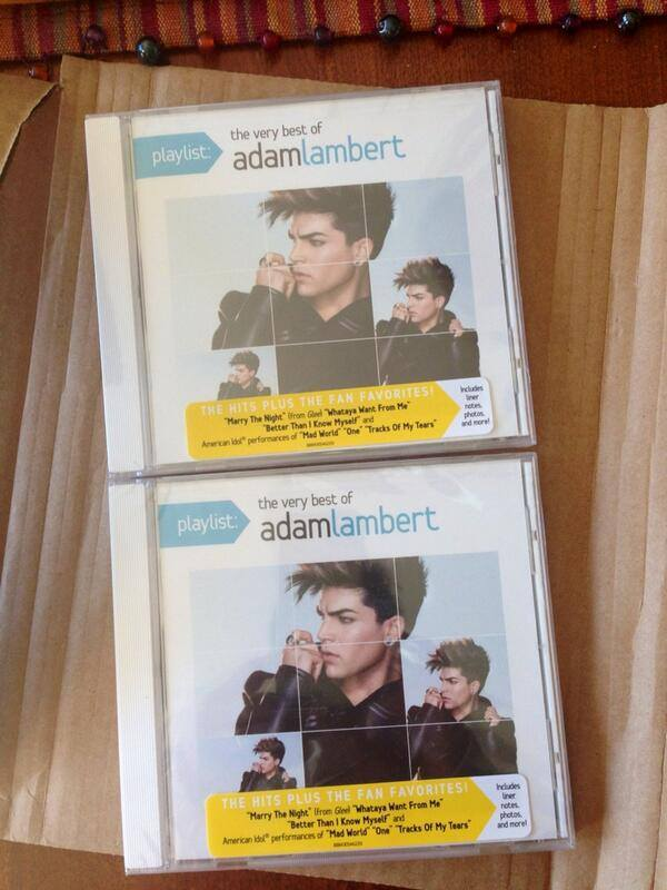 @bellesxxoo ~ LOOK what was just delivered to my front door. The Very Best Of Adam Lambert :)))) pic.twitter.com/6ZG8WANUFt