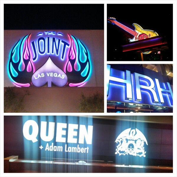 @mynameisEricM: Staying nr @HardRockHotelLV amazing advertising 4 @QueenWillRock + @adamlambert  @TheJointLV pic.twitter.com/ojSHUmM2eg
