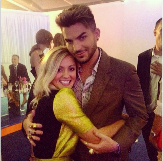alexagoddard: When Beatrice met Melvin! 💛☺️ So so lovely to meet you @adamlambert and I can't wait til next time! #GlamourAwards