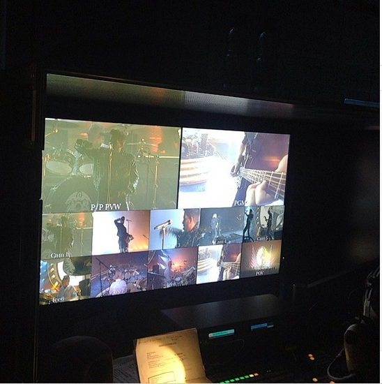 officialqueenmusic: Fat Bottomed Girls from the video camera desk backstage.