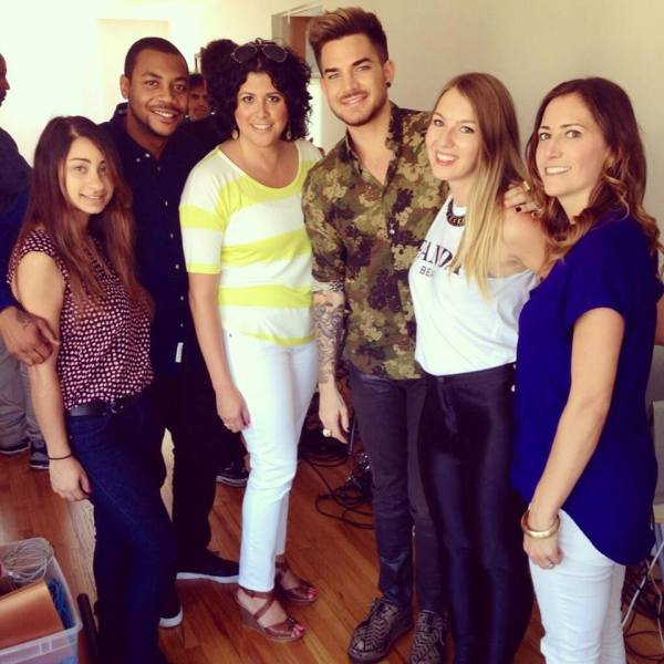 @dangerriske: Excited to be working with @adamlambert for #ATTLiveProud, such a talented artist supporting a great cause. #LGBT pic.twitter.com/pC7aDJQ0c5