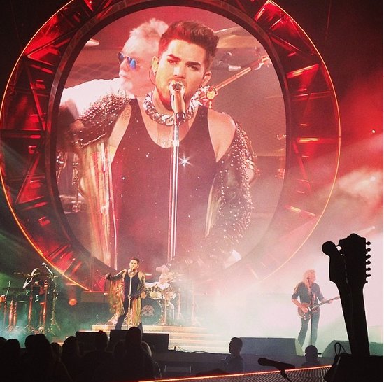 "run4roses132: ""I WANT IT ALL"" Queen + Adam Lambert at @thepalaceofauburnhills #queen #adamlambert AMAZING!!!"