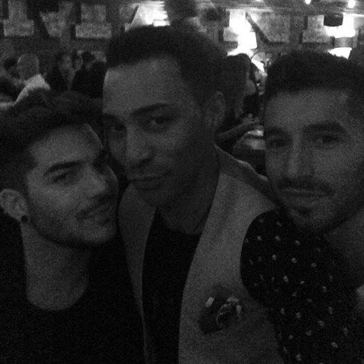 @ijpaget: The boyz. @browncharl @adamlambert #weloveyou #onenightonly #catch @catchrestaurants http://instagram.com/p/tErWZHqGUm/
