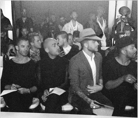 andrecito · Vibiana @marcosquared 💅 Front Row Hoes with @AdamLambert & @lukenero #marcomarcoshow #LAFashionWeekFollow