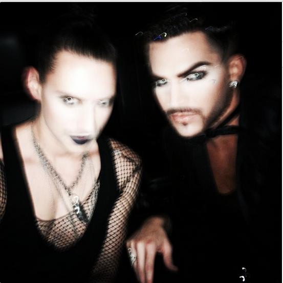 @adamlambert  ·  Halloween dreams. @grayjoey http://instagram.com/p/umiERRONLG/