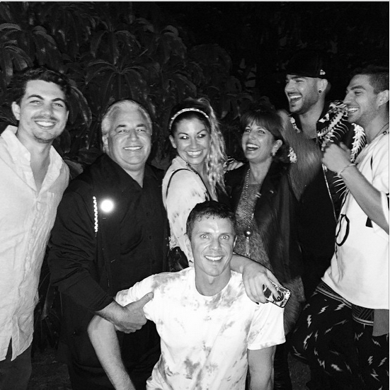 adamlambert: At the @samsmithworld show w @jakeshears @mark_cramer @daniellestori @negativeneil My Mama and Ray! Good vibes great music.
