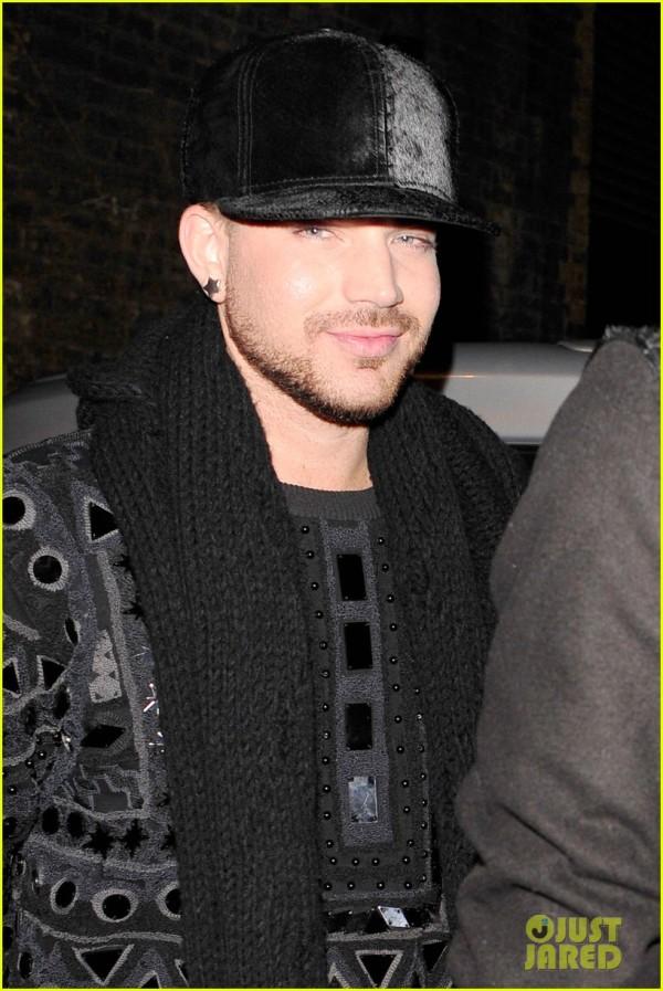 Adam Lambert joins Vas J. Morgan at Chiltern Firehouse **USA ONLY** **NO SUBSCRIPTIONS**