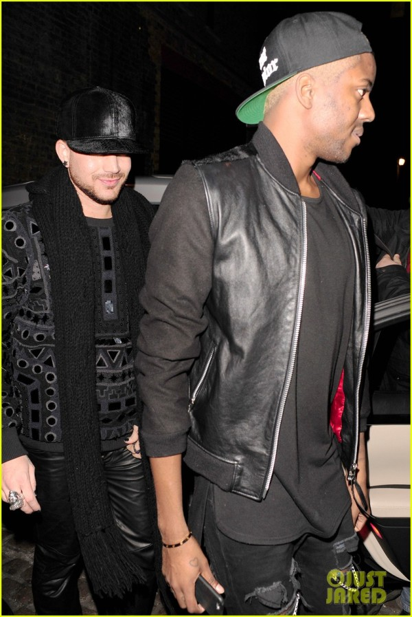 Adam Lambert joins Vas J. Morgan at Chiltern Firehouse **USA ONLY** **NO SUBSCRIPTIONS**