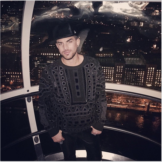 adamlambert - Took a little trip on the #LondonEye last night. #ILoveLondon @ktz_official