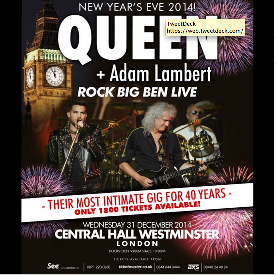adamlambert: This NYE in London! Come ring in 2015 with us!